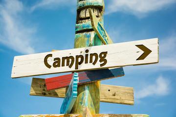 Fototapete - Schild 282 - Camping