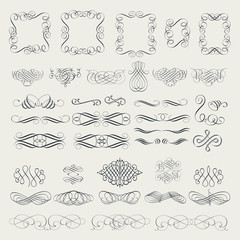Collection of calligraphic elements