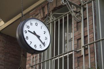 Clock and retro wall