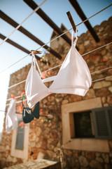 Wäsche trockenen in der Sonne