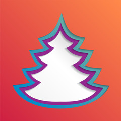 Creative paper abstract christmas tree background, eps10 vector illustration