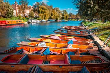 Fall color of River Cam in Cambridge