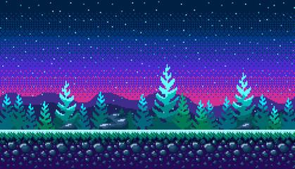 Pixel art seamless background.