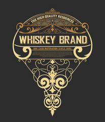 Whiskey label. Western style