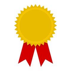 Badge with ribbons icon, Award ribbon