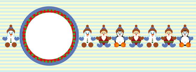 Christmas banner, vector template.