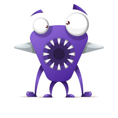 Funny, cute cartoon monster characters.Vector eps 10