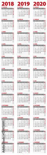 kalender 2018 2019 2020 hochformat stockfotos und lizenzfreie vektoren auf. Black Bedroom Furniture Sets. Home Design Ideas