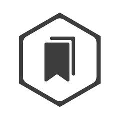 Obraz ikona sześciobok z zaokrąglonymi wewnątrz krawędziami  - fototapety do salonu