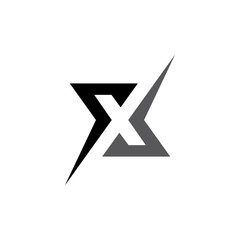 x letter abstract logo