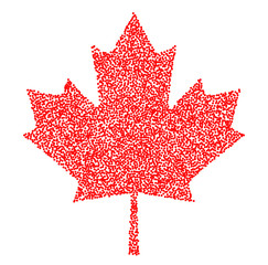 Sign dark canada maple leaf stipple. Dotted pixel Abstract maple leaf. Summer and autumn theme sale. Vector illustration.