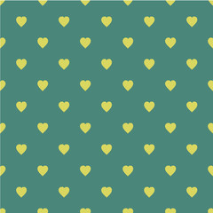 Pattern with hearts. Flat Scandinavian style for print on fabric, gift wrap, web backgrounds