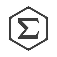 ikona sześciobok z zaokrąglonymi wewnątrz krawędziami