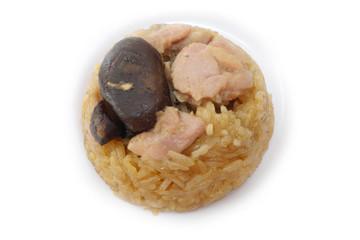 Steamed glutinous rice with chicken