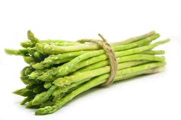 Bundle of green asparagus shoots