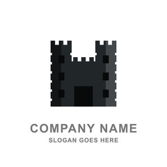 Castle Fort Tower Kingdom Logo Vector Icon
