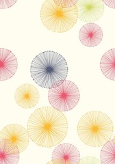 Seamless pattern with dandelions. Vector background.