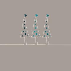 3 Christmas Trees Turquoise Christmas Balls