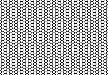 Hexagon honeycomb seamless background. Simple seamless pattern of bees' honeycomb cells. Illustration. Vector. Geometric print.