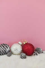 Christmas background design in pink