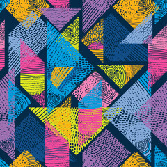 Geometric motif. Vector seamless pattern.