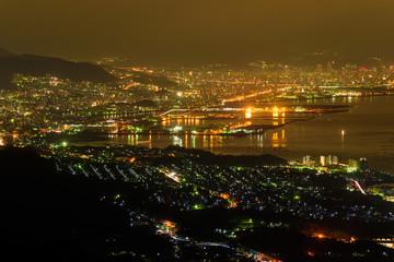 広島の夜景 経小屋山からの眺め
