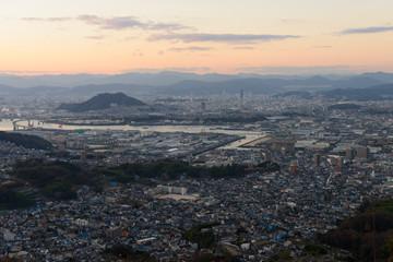 広島の夕暮れ 愛宕神社からの風景