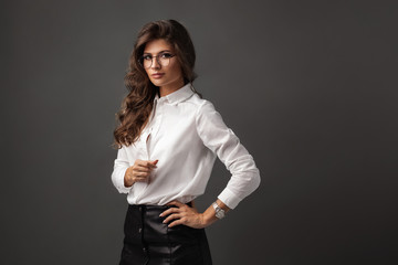 Beautiful confident businesswoman