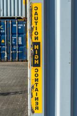 Schiffscontainer im Containerhafen