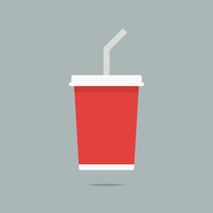 Soda drink icon vector