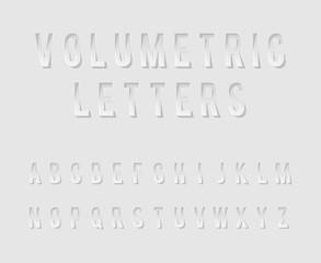Volumetric Cutout Alphabet Letters Realistic 3d Template Design Mock Up Vector Illustration