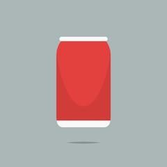 Soda can icon vector