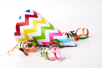 holiday concept with colorful ribbons