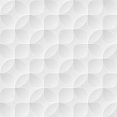 Light gray seamless vector background with circles and squares.