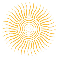 Sun icon isolated on white background, Vector illustration