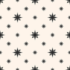 Vector ornament geometric seamless pattern with stars, small starry shapes. Space pattern.