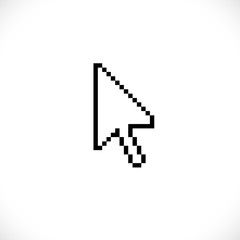 Old style pixel computer mouse cursor arrow