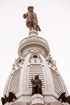 William Penn Statue on the Top of the Philadelphia City Hall