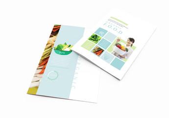 Bi-Fold Brochure Layout With Green Accents 2
