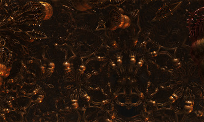 Alien virus abstract fractal science fiction design for textures, backgrounds and wallpapers