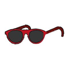 sunglasses icon over white background vector illustration