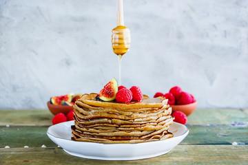 Sweet pancake tower