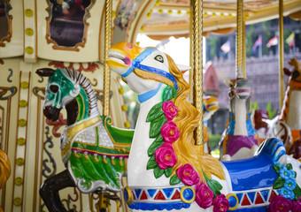 Vintage carousel horse background