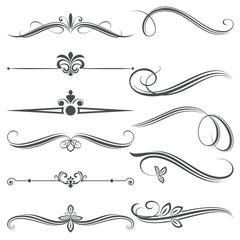 Vintage decorative floral divider design