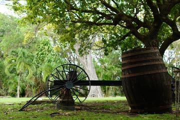 Wheel and barrel
