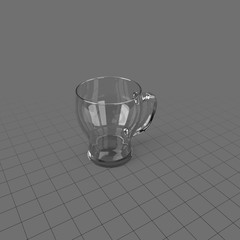 Glass cup with handle 1