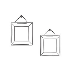 Two simple frames in the sketch style