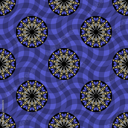 Seamless Vector Pattern Background From Circular Patterns Design
