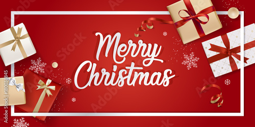 merry christmas greeting card vector illustration concept for greeting cards web banner flayer