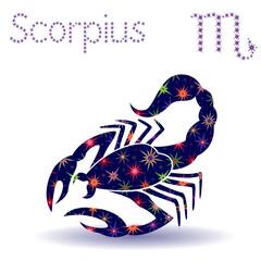 Zodiac sign Scorpius stencil